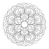 Outline Mandala for coloring book. Decorative round ornament Stock Images