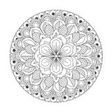 Outline Mandala for coloring book. Decorative round ornament. Royalty Free Stock Photo