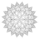 Outline Mandala for coloring book. Decorative round ornament. Royalty Free Stock Image