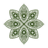 Outline mandala. Decorative round ornament. Vector illustration Stock Photos