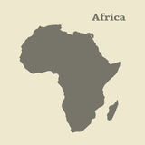 Outline map of Africa. Isolated  illustration. Royalty Free Stock Photo