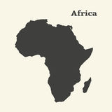 Outline map of Africa. Isolated vector illustration. Royalty Free Stock Photo