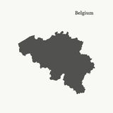 Outline map of Belgium.  illustration. Royalty Free Stock Photos