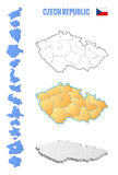 Outline map of czech republic, illustration Stock Photo