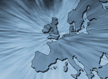 Outline map of Europe Stock Photo