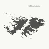 Outline map of Falkland Islands.  illustration. Stock Photo