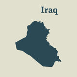 Outline map of Iraq.  illustration. Royalty Free Stock Photography