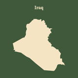 Outline map of Iraq.  illustration. Stock Photo