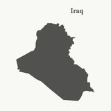 Outline map of Iraq.  illustration. Stock Photography