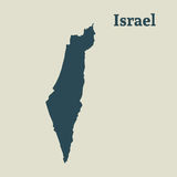 Outline map of Israel.  illustration. Stock Photo