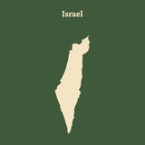 Outline map of Israel.  illustration. Royalty Free Stock Photo