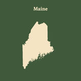 Outline map of Maine.  illustration. Stock Photos