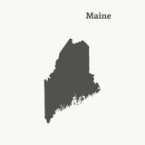 Outline map of Maine.  illustration. Royalty Free Stock Image