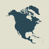 Outline map of North America.  illustration. Outline map of North America. Isolated  illustration Royalty Free Stock Image