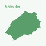 Outline map of  St. Helene Island. Stock Photography