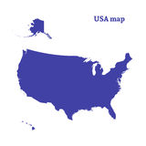 Outline map of USA. Isolated vector illustration. Royalty Free Stock Images