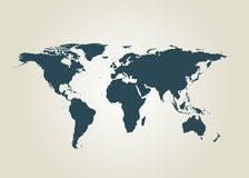Outline map of world. vector illustration. Royalty Free Stock Images