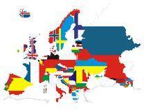 Outline maps of the countries  Stock Photo