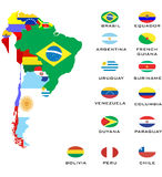 Outline maps of the countries  Royalty Free Stock Photography