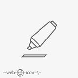 Outline marking pen vector icon Royalty Free Stock Image
