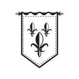 Outline medieval flag Stock Images