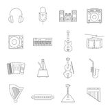 Outline Melody Icon Set Royalty Free Stock Images