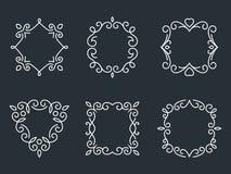 Outline monogram frames Stock Photo
