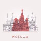 Outline Moscow skyline. Stock Photo