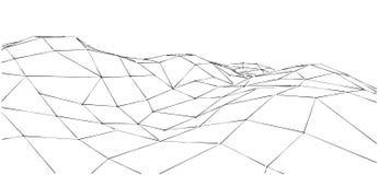 Outline mountain illustration. Stock Photos