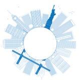 Outline New York city skyline Royalty Free Stock Photography
