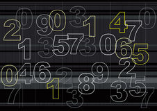 Outline of Numbers Royalty Free Stock Photos