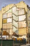Outline Of Old Building During Demolition Stock Images