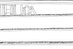 Outline of Partially Full Bookshelf Stock Photos