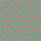 Outline pattern of multi colored bricks Royalty Free Stock Images