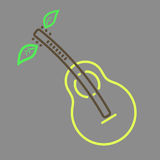 Outline  pear guitar icon Stock Images