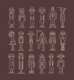 Outline people icon set Royalty Free Stock Photo