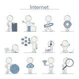 Outline People - Internet. And technology. Vector illustration vector illustration
