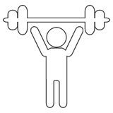 outline of person lifting a barbell Royalty Free Stock Photography