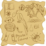 Outline Pirate Collection Royalty Free Stock Photo