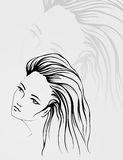 Outline portrait Royalty Free Stock Images