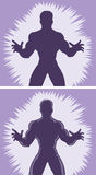 Outline pouncing Man Stock Images