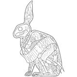 Outline rabbit Stock Photo