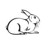 outline rabbit Royalty Free Stock Images