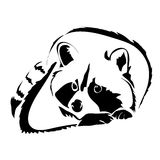 Outline raccoon vector image. Can be use for logo royalty free illustration