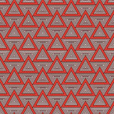 Outline repeated triangles background. Simple abstract wallpaper with geometric figures. Seamless surface pattern. Outline repeated triangles on white background Royalty Free Stock Photography