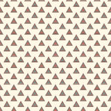 Outline repeated triangles background. Simple abstract wallpaper with geometric figures. Seamless surface pattern Royalty Free Stock Photography