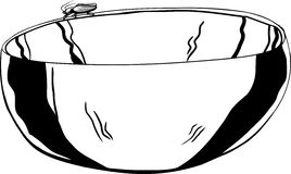 Outline of Roach on Bowl Royalty Free Stock Photos