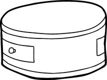 Outline of Round Night Stand Stock Photo