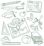 Outline school doodle Stock Photos