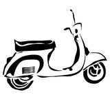 Outline scooter. Can be use for logo. Royalty Free Stock Images